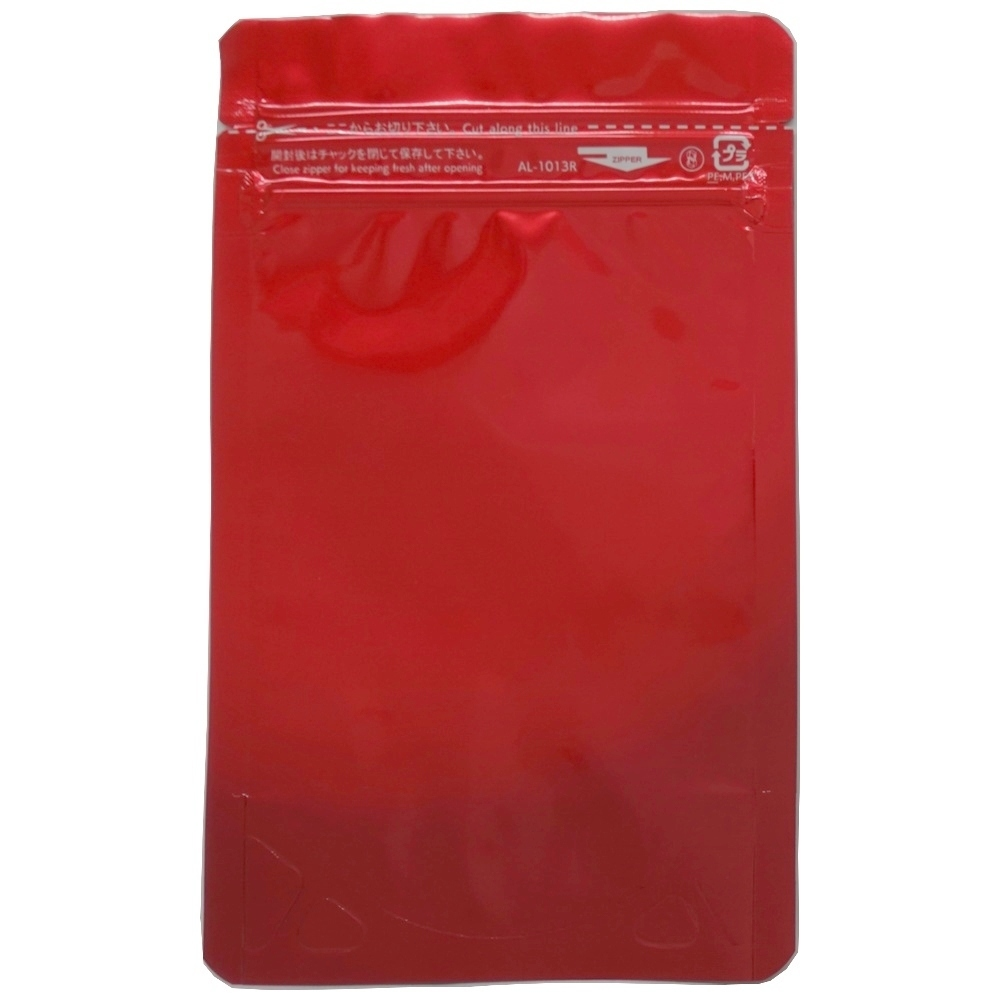 ラミジップ AL-1013R アルミカラースタンドタイプ 32+130×100(30)mm レッド(赤) 50枚×40袋●ケース販売お徳用【メーカー直送】