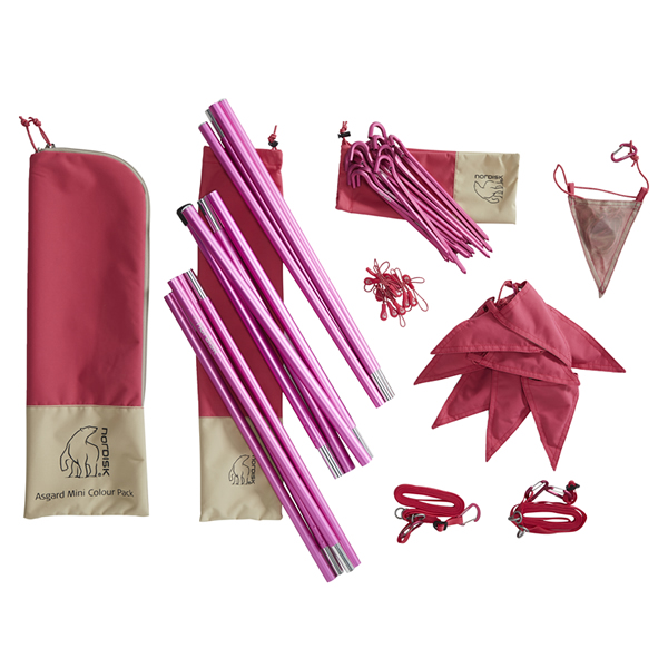 Asgard Mini Colour pack(Cherry)テント 部品セット