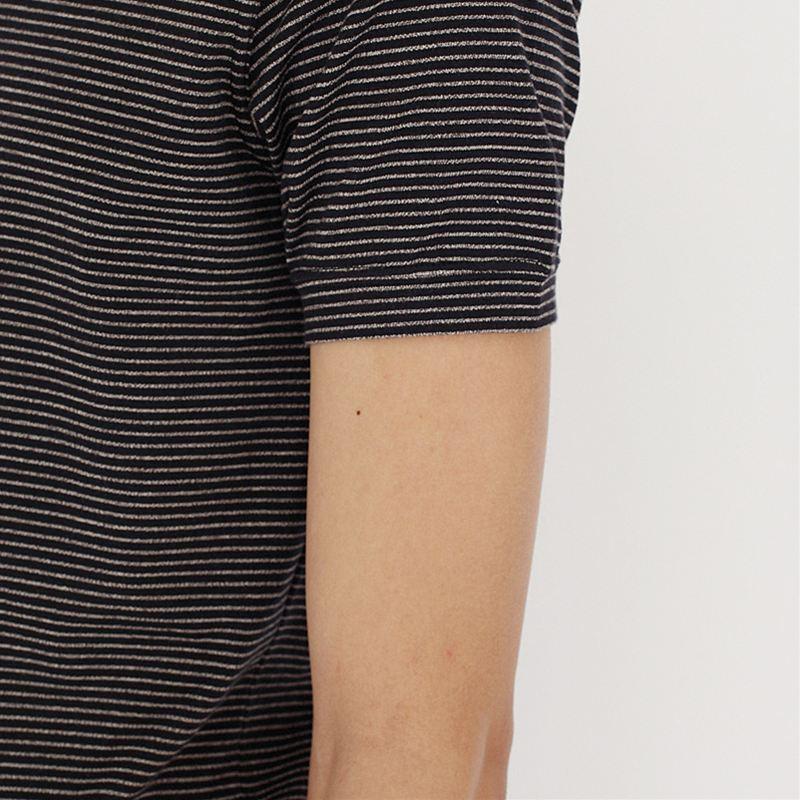 ノリコイケ ボーダーポロシャツ ボタン付き  メンズ