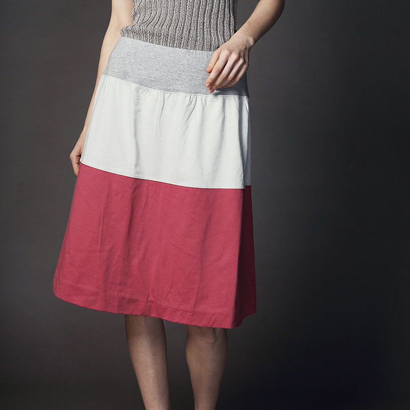 度詰め天竺3段切り替えスカート