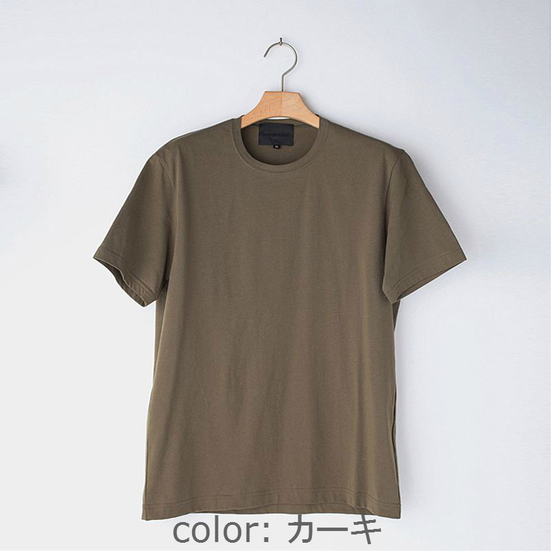 ノリコイケ 度詰め天竺 クルーネック 半袖 Tシャツ メンズ