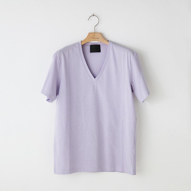 ノリコイケ 度詰め天竺 深Vネック 半袖 Tシャツ メンズ