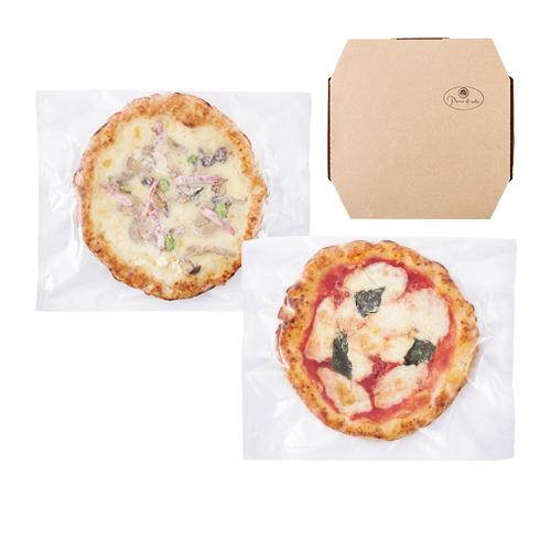 【三種町産品】石窯焼きピザ2種(マルゲリータ・キノコとベーコンの塩ピザ)