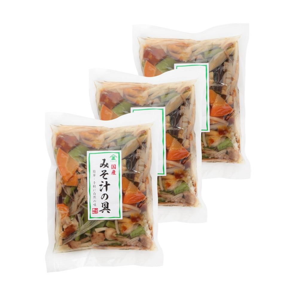 秋田県産天然山菜入りみそ汁の具200g×3袋セット