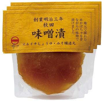 マルイチしょうゆ・みそ醸造元 糸かぼちゃの味噌漬け×3袋セット