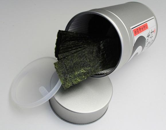 【大容量】あごだし味付海苔8切144枚(丸缶)