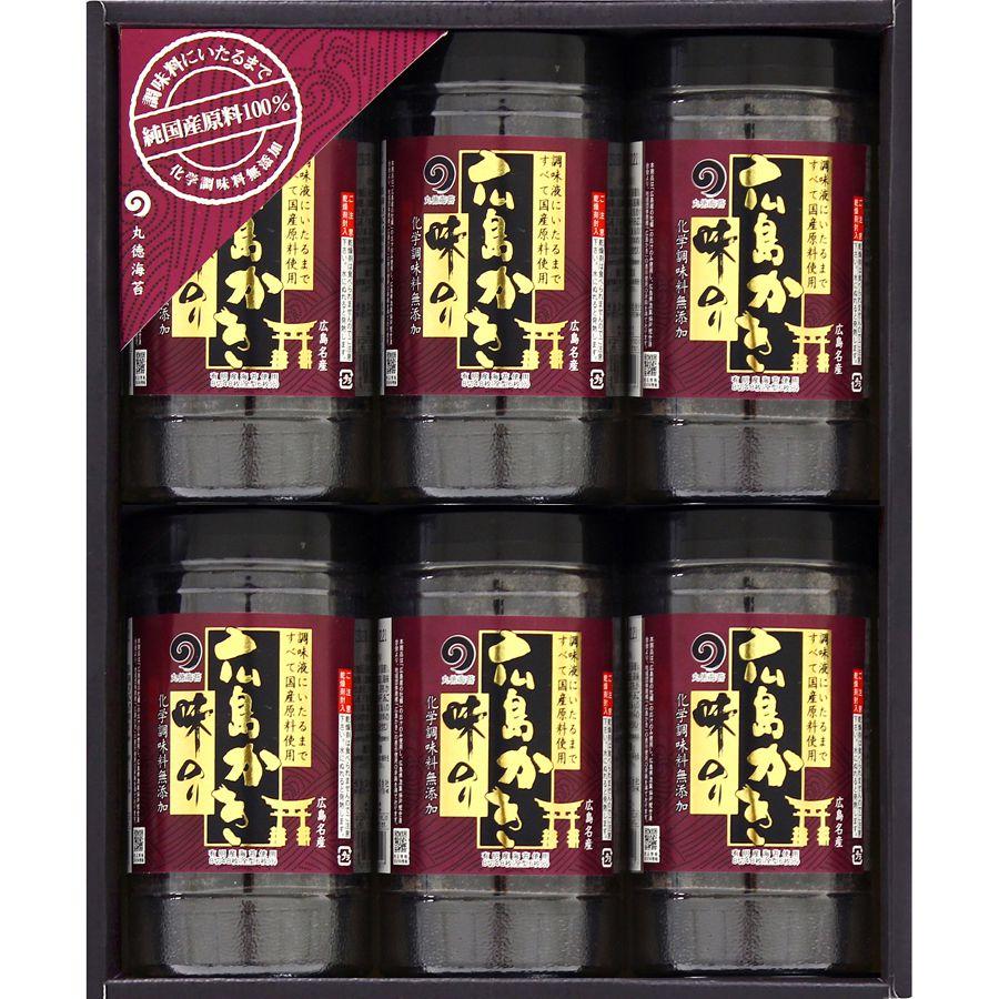【ギフト】純国産・広島かき味のり6本詰合せ(もみじ-30R)