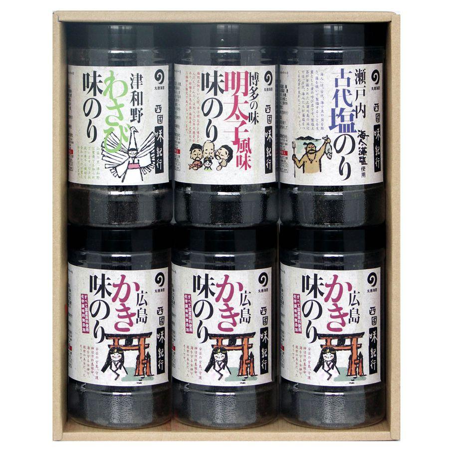 【ギフト】】味のり4種6本詰(味紀行-30R)