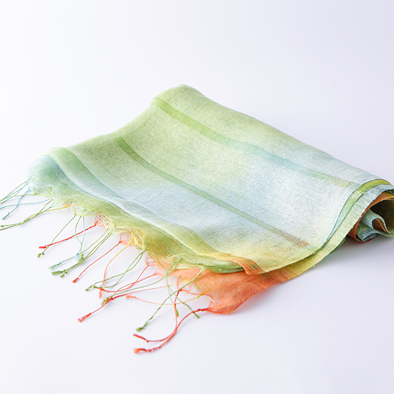 草木染絹ストール(蓮染)55×180cm
