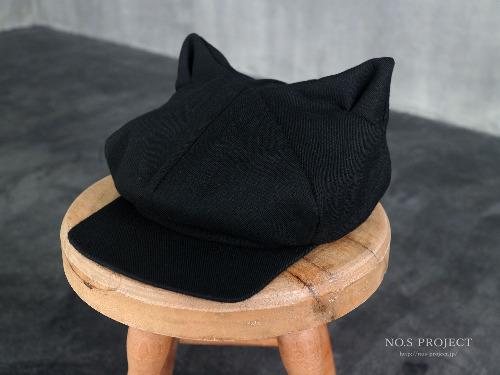 猫耳キャスケット ブラック