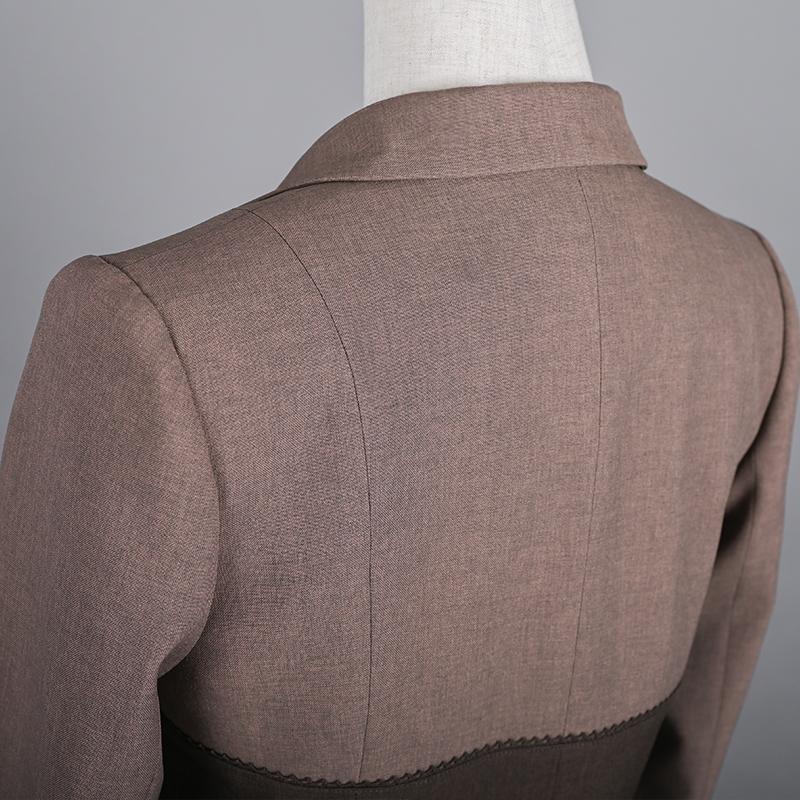 ビスチェスクジャケット ブラウン