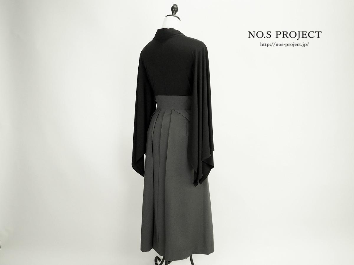 袴スカート グレー