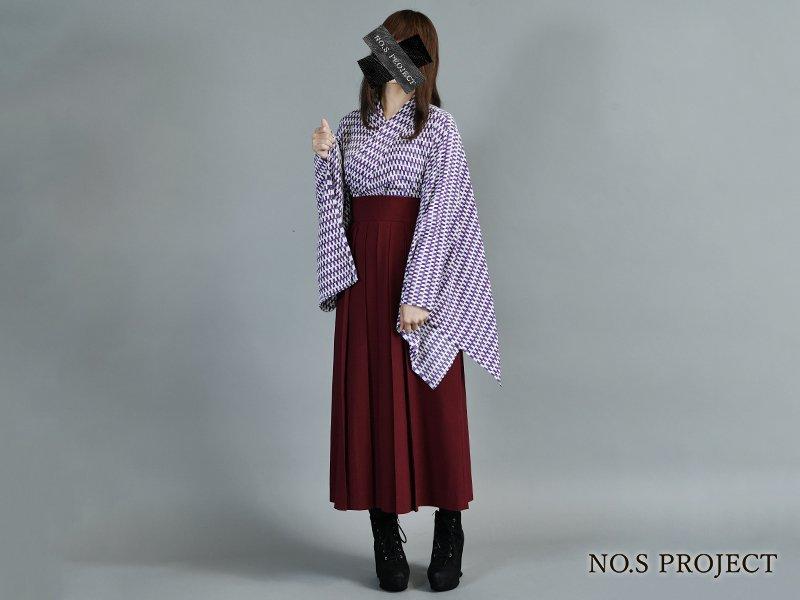 ハイカラカシュクール 矢絣(紫)