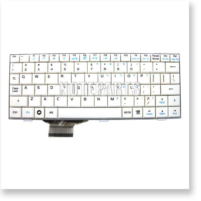 Asus Eee PC 4G-X 900 901-X用 英語キーボード ホワイト