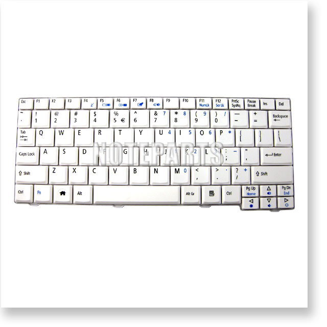 Acer Aspire One A110 A150 ZG5 D150 D250 531h 英語キーボード  ホワイト