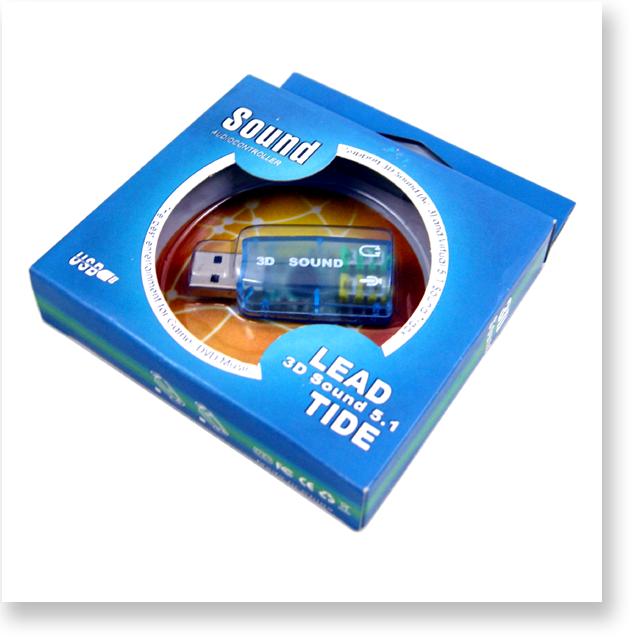 USB 5.1ch 3D サウンドアダプタ マイク入力端子付き