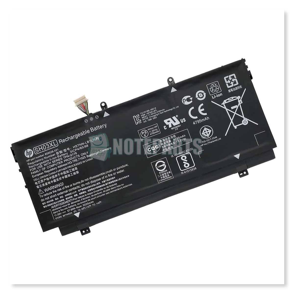 HP純正 Spectre x360 13-ac000 バッテリー SH03XL CN03XL 859026-421 901345-855 HSTNN-LB7L