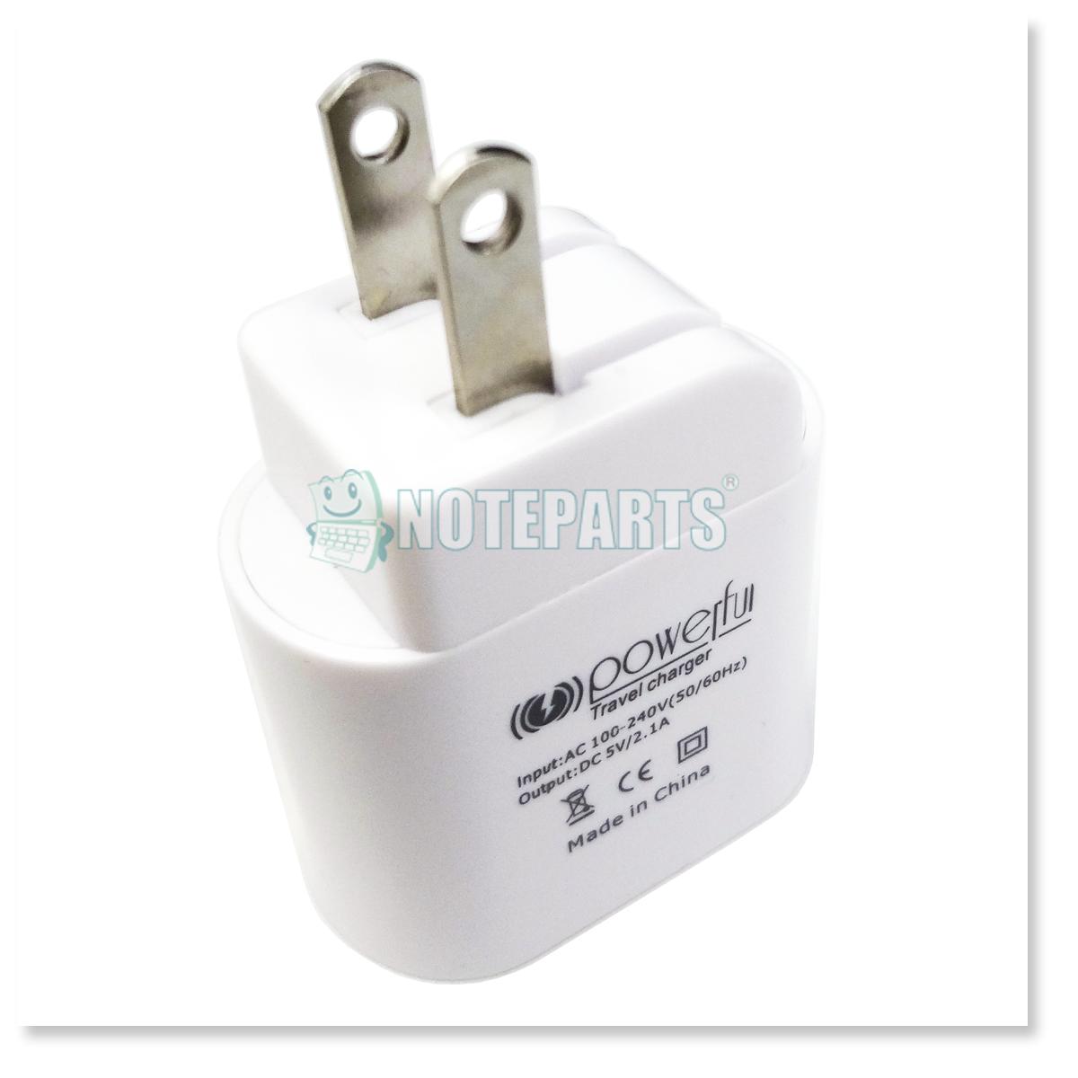 USB-AC変換アダプター 高出力 2ポート搭載 iPad、iPod、スマホ対応