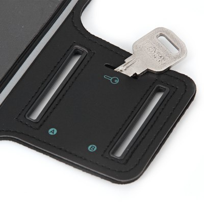 iPhone 6 サイズ調整可能 防水アームバンド イヤフォン穴・キー収納付き ブラック