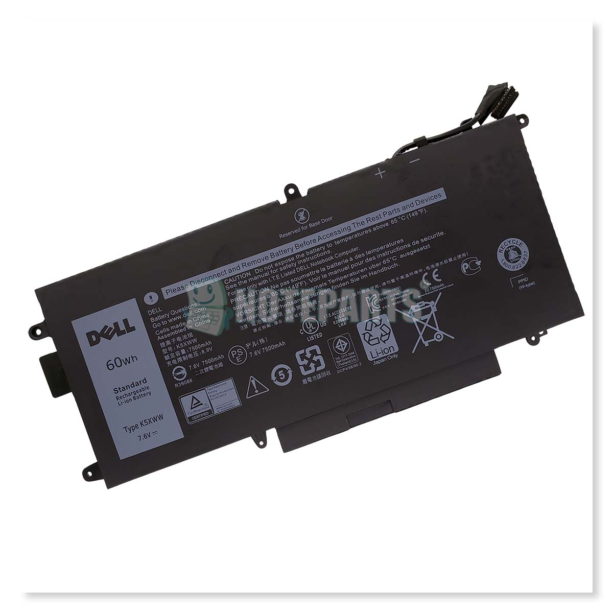 Dell純正 デル Latitude 7390 2-in-1 4セル バッテリー K5XWW