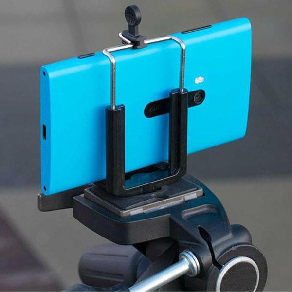 スマートフォンカメラ三脚ホルダー iPhone Galaxy Xperia ARROWS 対応