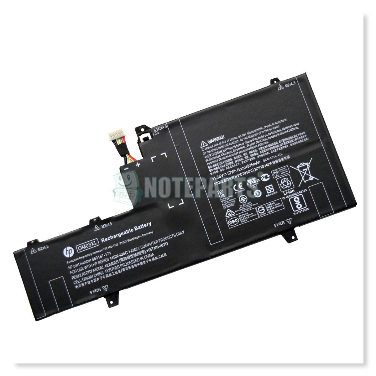 HP純正 EliteBook x360 1030 G2 バッテリー 863167-171 863280-855 OM03XL