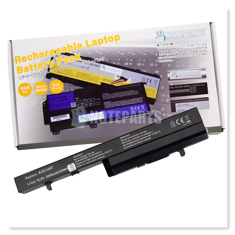 Asus U37VC 6セル バッテリー A32-U47 A41-U47 A42-U47対応