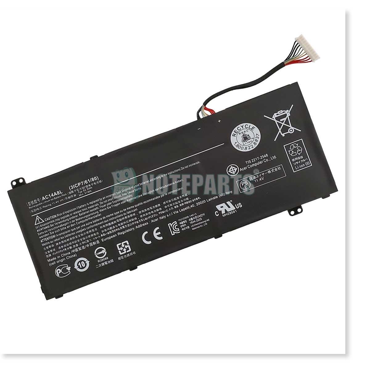 Acer純正 エイサー Aspire V Nitro VN7-571G VN7-572G VX5-591G バッテリー AC14A8L
