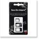 スマートフォン・タブレット Nano & Micro SIM 変換アダプター セット iPhone Galaxy Xperia ARROWS 対応