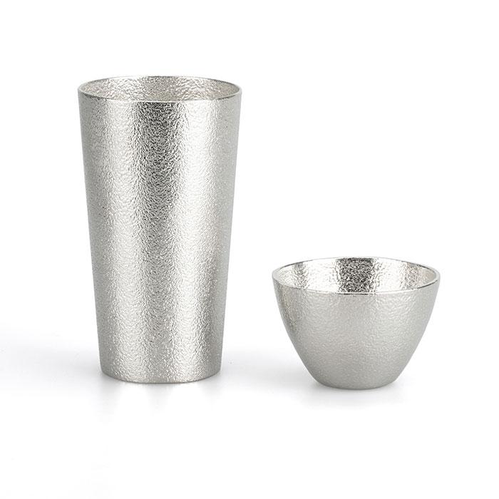 酒器と富山の幸で晩酌を 家呑みセット ‐ A(ビアカップ1ヶ&ぐい呑1ヶ&幸のこわけ1種)