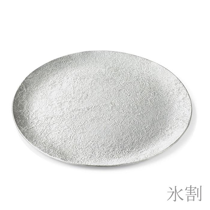 大皿- 布目・氷割