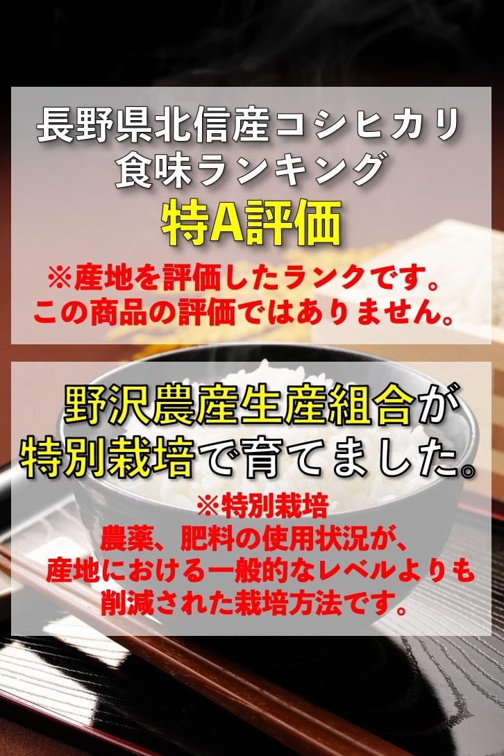 【公式WEB価格】令和2年産 無洗米 特別栽培米コシヒカリ 5kg ブナの水 特A 長野県北信産