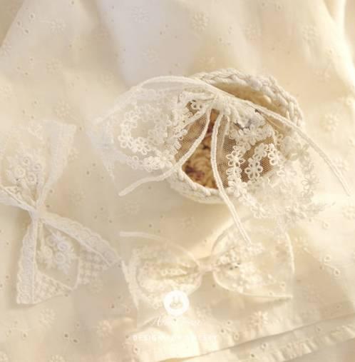 ≪243≫check同梱限定【ARIM CLOSET】 lace ribbon clip(レースリボンクリップ)
