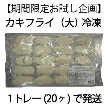 【期間限定お試し企画】カキフライ(大)1トレー(20ヶ)冷凍【送料無料】