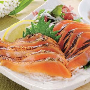 サーモンあぶり焼(スライス)500g 冷凍(12トレーセット)