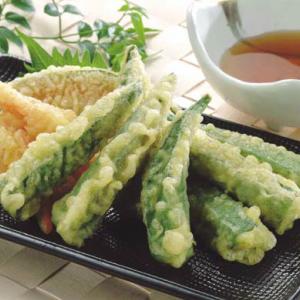 天ぷら素材(オクラ) 1kg 冷凍(6トレーセット)