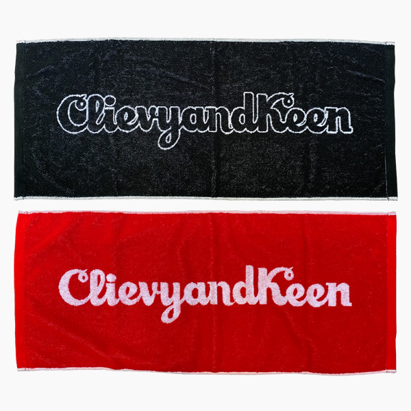 C&K:CLIEVY AND KEEN  ジャガードロゴフェイスタオル
