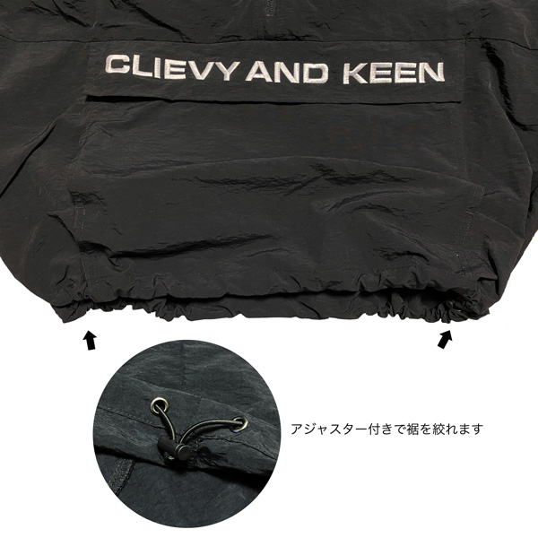 C&K:【SALE/Sサイズのみ】CLIEVY AND KEEN 上をみたらキリがないが、キャンプに適した素材で作ったパーカー