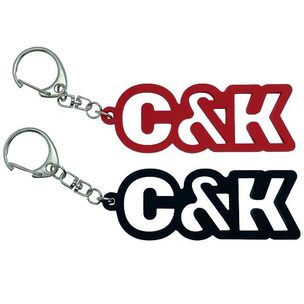 C&K:C&K ロゴラバーキーホルダー
