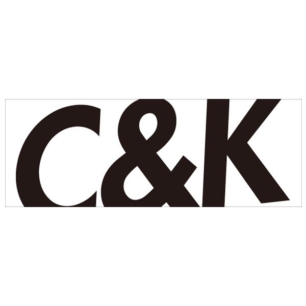 C&K:C&K ビッグロゴスポーツタオル(白×ロゴ黒)