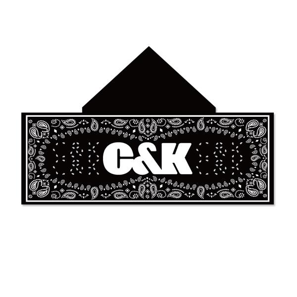C&K:C&K ペイズリー柄フード付きタオル(黒)