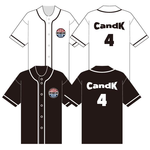 C&K:C&K 風が吹き抜けるベースボールシャツ(白、黒)