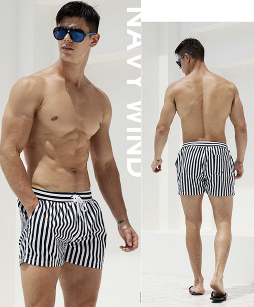 Men's Boxer swim wear (WHITE)