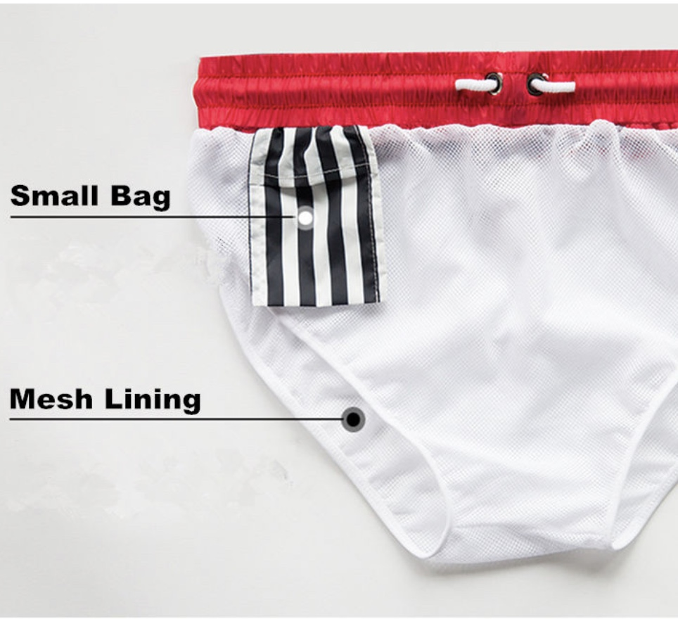 Men's Boxer swim wear (RED)