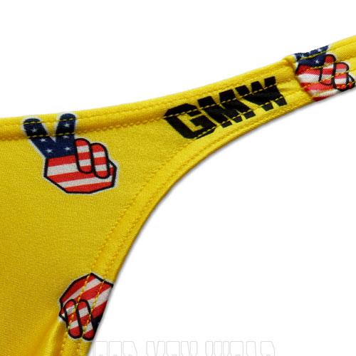 GMW  センターシームピースサインptビキニ yellow