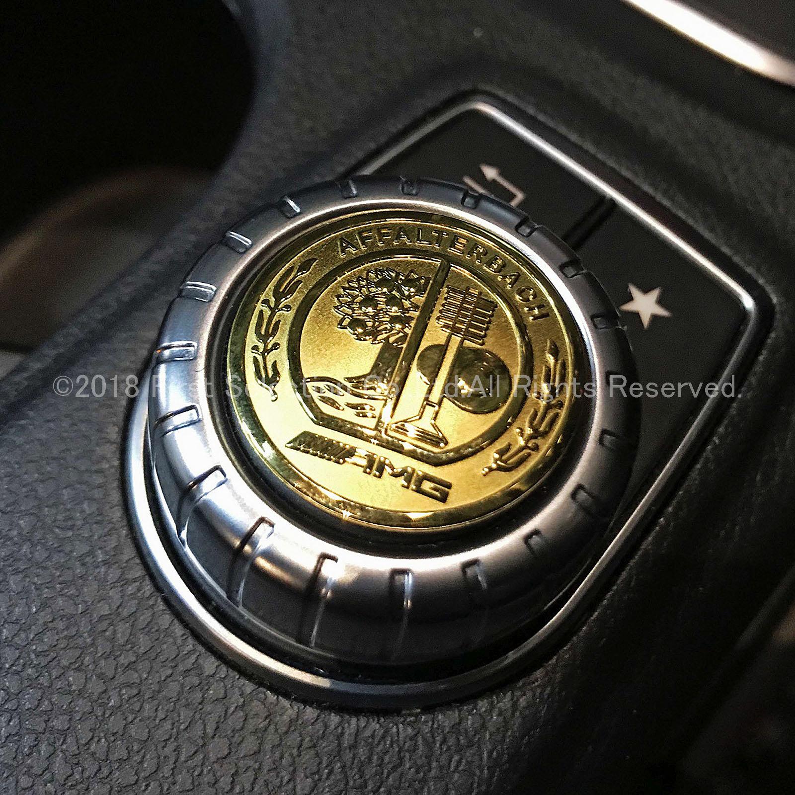 Mercedes-Benz ベンツ用 AMG金ロゴ 小型ダイヤルプレート W176 W246 W204 W212 W166 C117 C218 X156 X166 X204 R172