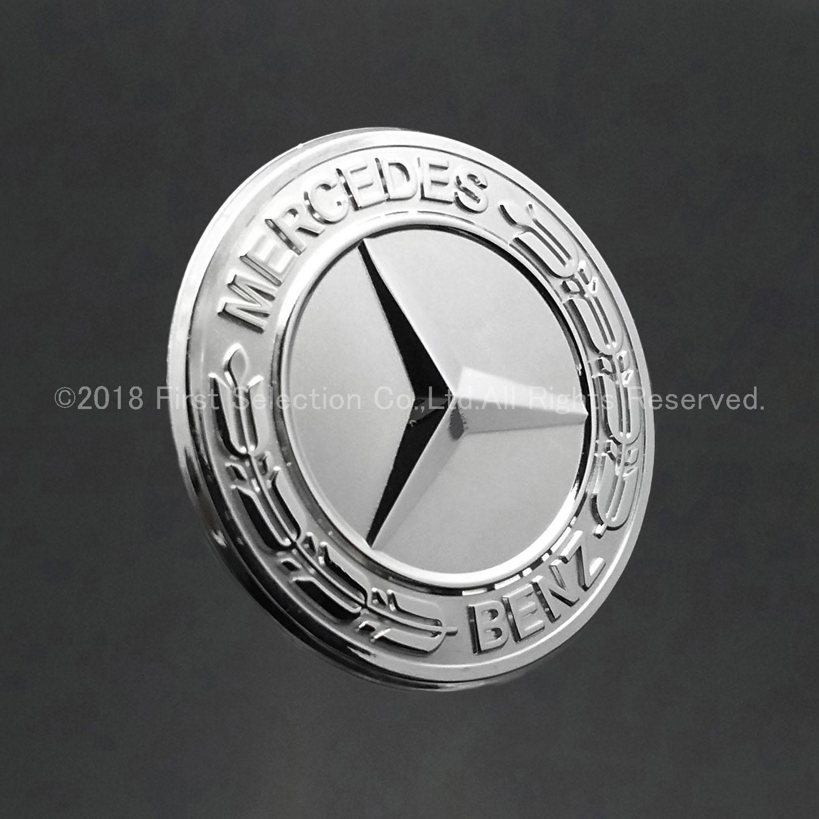 Mercedes-Benz ベンツ用 Benz銀ロゴ 小型ダイヤルプレート W176 W246 W204 W212 W166 C117 C218 X156 X166 X204 R172