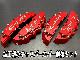 トヨタ車 C-HRロゴ銀文字 C-HR専用 加工済金具付高品質キャリパーカバー赤 M/Mサイズセット