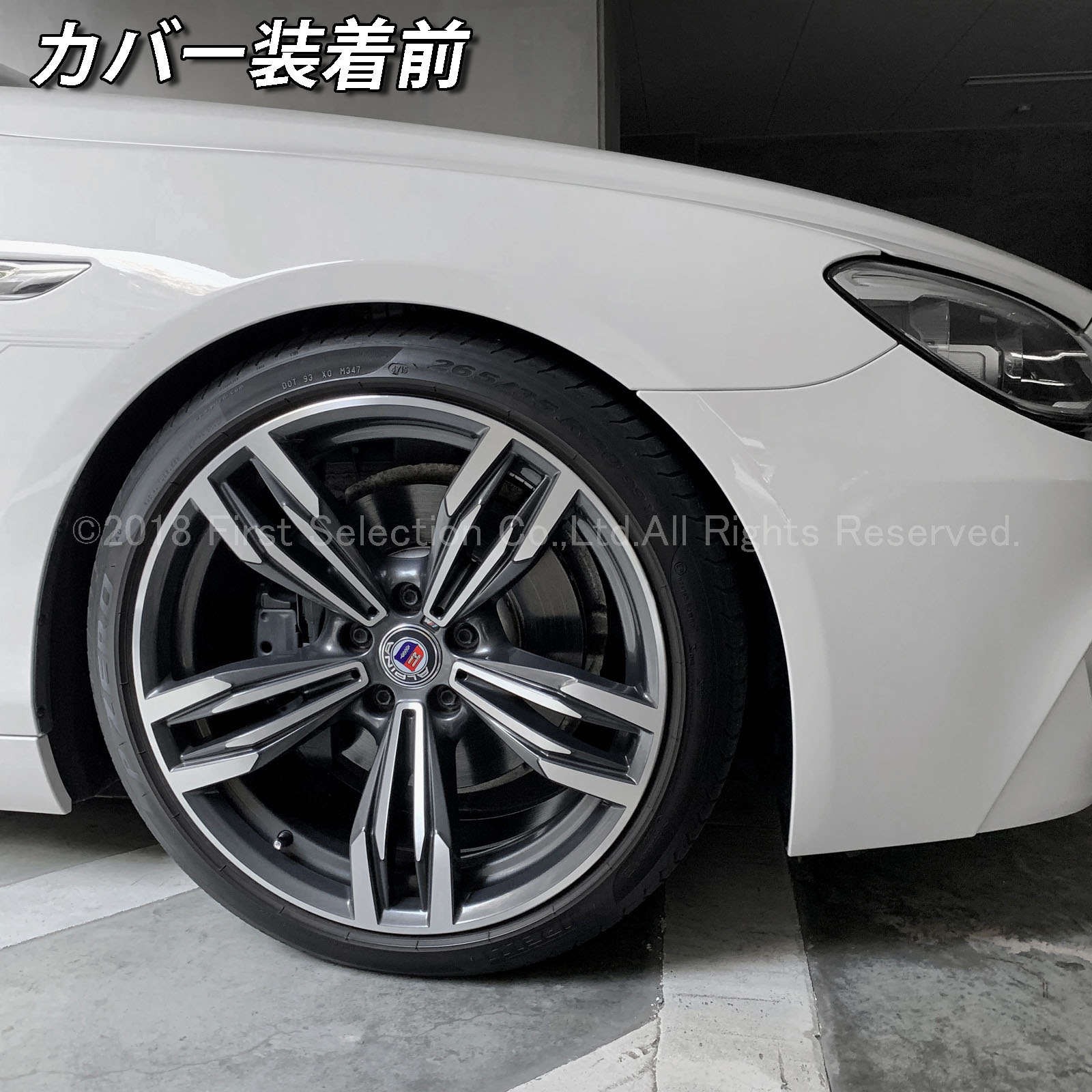 BMW ///Mカラーロゴ 6シリーズ F12/F13/F06 640i用 高耐久金属製キャリパーカバーセット赤 6シリーズ F12カブリオレ F13クーペ F06グランクーペ 640i Mロゴ