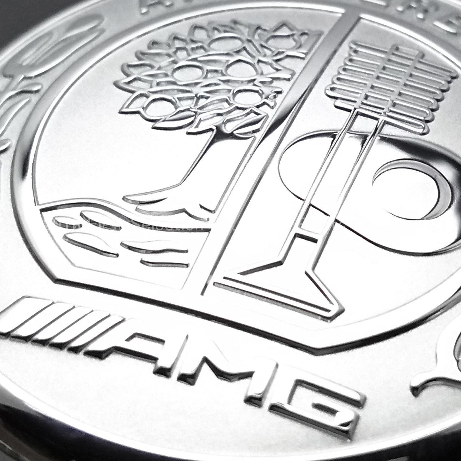 Mercedes-Benz ベンツ用 AMG銀ロゴ エンジンスターターカバー W176 W205 S205 C205 C117 X156 X253 C253